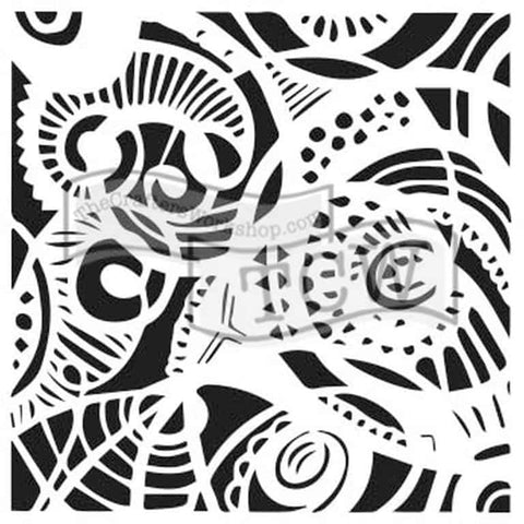 The Crafters Workshop 6x6 Stencil - Free Swirl