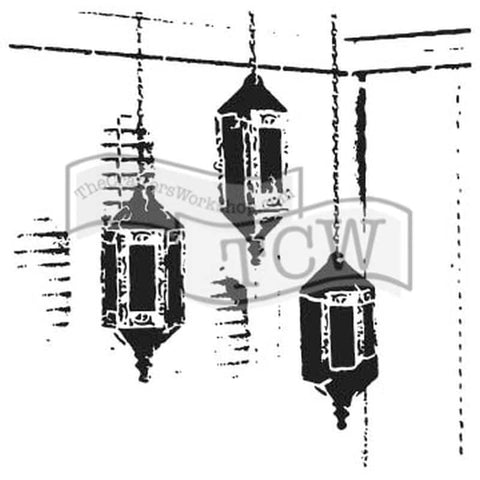 The Crafters Workshop 6x6 Stencil - Exotic Lamps