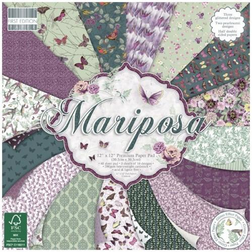 First Edition 12x12 Paper Pad - Mariposa
