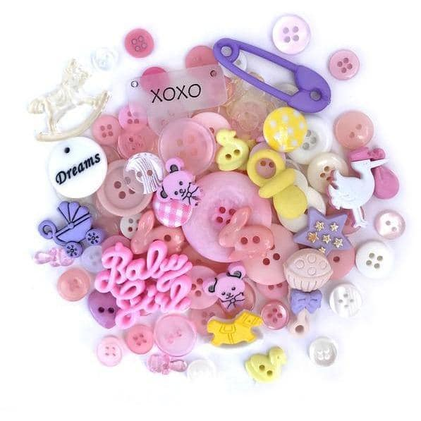 Buttons Galore Value Pack - Baby Girl