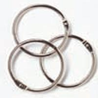 "Woodware Book Rings - Silver 1.5"", pack of 24"