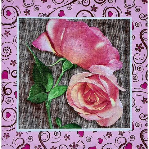 Decoupage Napkin - Pink Roses
