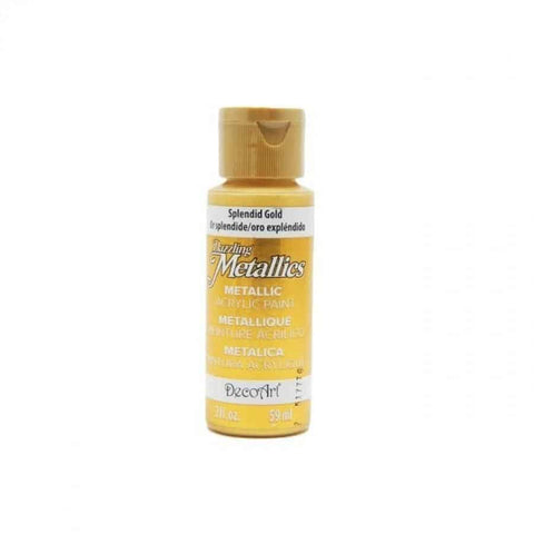 DecoArt Dazzling Metallics paint - Splendid Gold - 2 oz