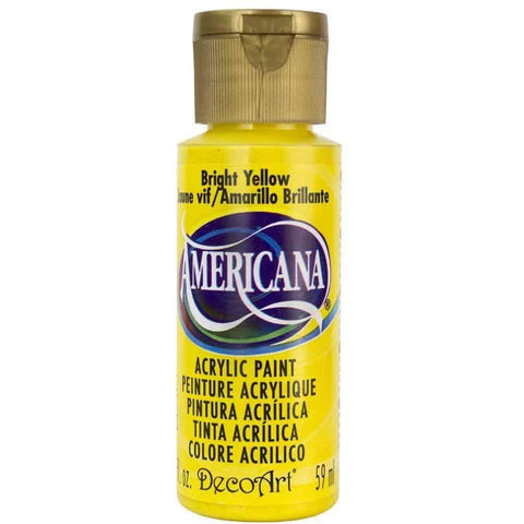 DecoArt Americana Acrylic Paint 2oz - Bright Yellow