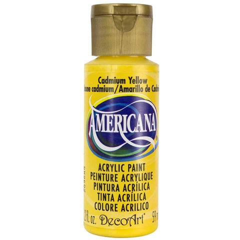 DecoArt Americana Acrylic Paint 2oz - Cadmium Yellow