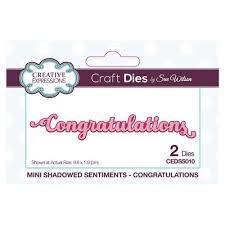 Sue Wilson Dies - Mini Shadowed Sentiments Congratulations