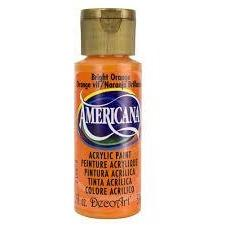 DecoArt Americana Acrylic Paint 2oz - Bright Orange