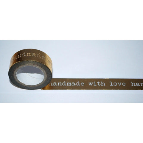 Dovecraft Washi Tape - Gold Foil, Handmade with love