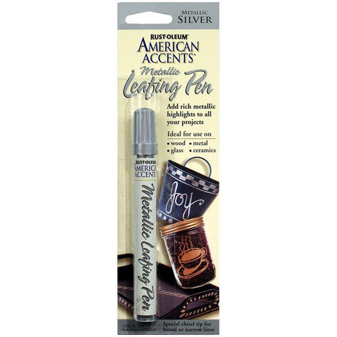 Rust-Oleum American Accents Metallic Leafing Silver Pen