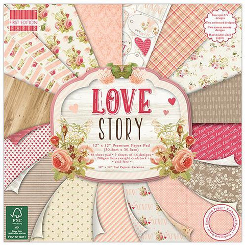 First Edition 12x12 Paper Pad - Love story