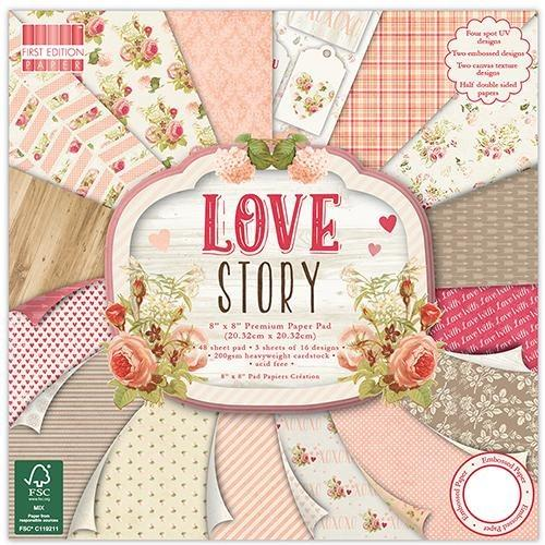 First Edition 8x8 Paper Pad - Love story