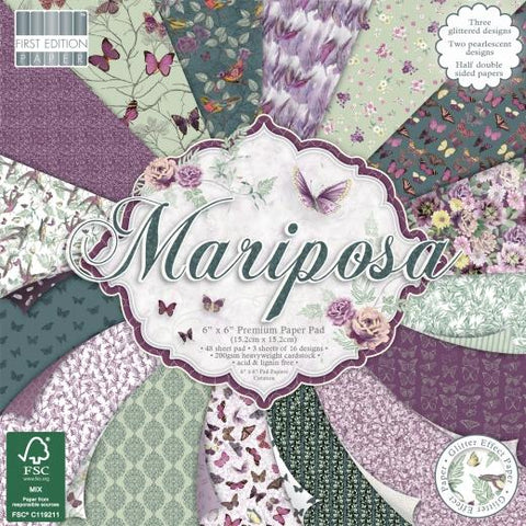 First Edition 6x6 Paper Pad - Mariposa