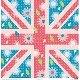Personal Impressions 12x12 sheet- Floral Union Jack