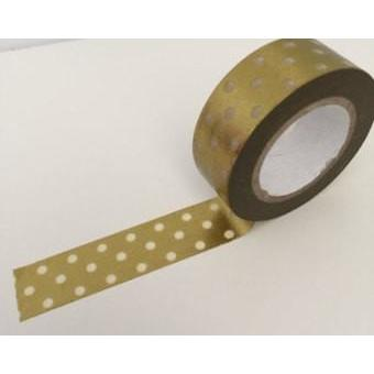 Dovecraft Washi Tape - Foil, Gold Dots