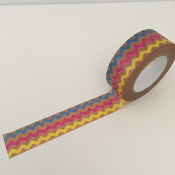 Dovecraft Washi Tape - Rainbow Chevron
