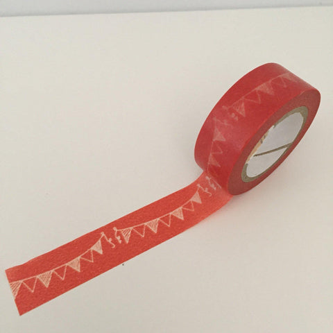 Dovecraft Washi Tape - Red Pennants