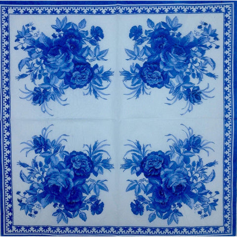 Decoupage Napkin - Blue China