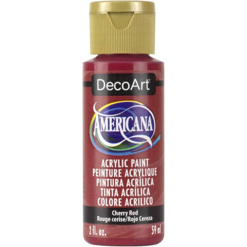 DecoArt Americana Acrylic Paint 2oz - Cherry Red