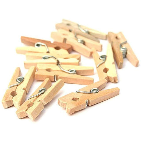 Mini wooden pegs pack