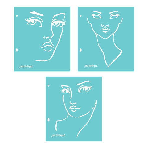 Jane Davenport Artomology Stencils - Good Face