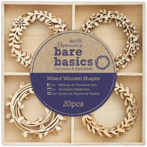 Papermania Wooden Shapes - Bare Basics - Wreaths