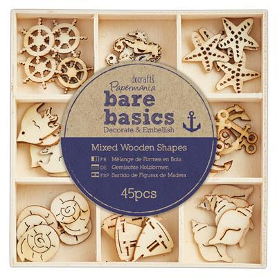 Papermania Wooden Shapes - Bare Basics - Nautical