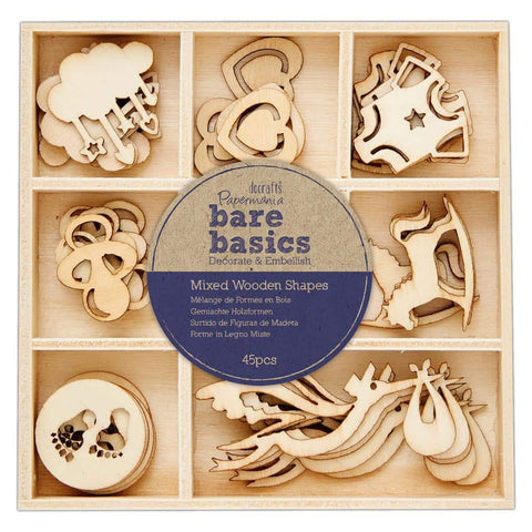 Papermania Wooden Shapes - Bare Basics -Baby