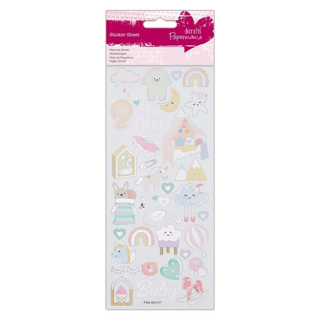 Papermania Foil Stickers - Baby Girl