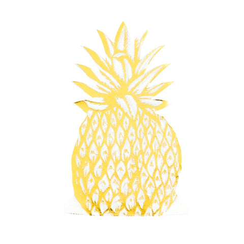 Decoupage Napkin - Gold Foil Pineapple
