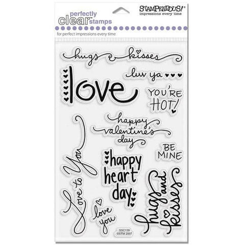 Stampendous Perfectly Clear - Love Messages