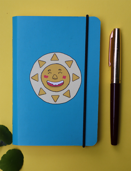 Mini Pocket Book | The Blue Happy Sun - Little Green Trunk