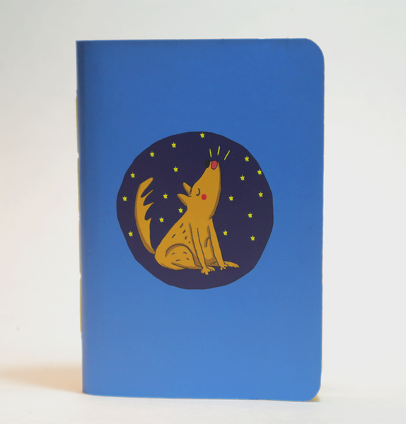 Mini Pocket Book | Howling Dog - Little Green Trunk