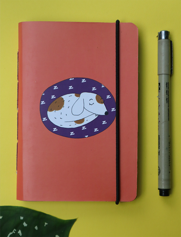 Mini Pocket Book | Sleepy Dog - Little Green Trunk