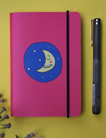 Mini Pocket Book | Moons & Stars - Little Green Trunk