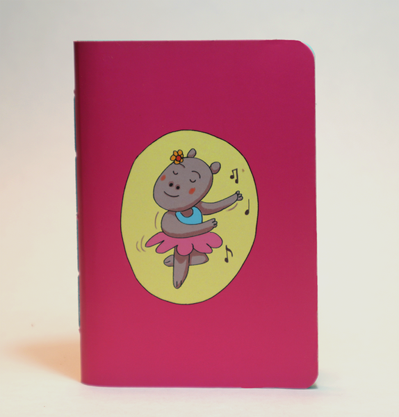 Mini Pocket Book | Hippo Ballet - Little Green Trunk