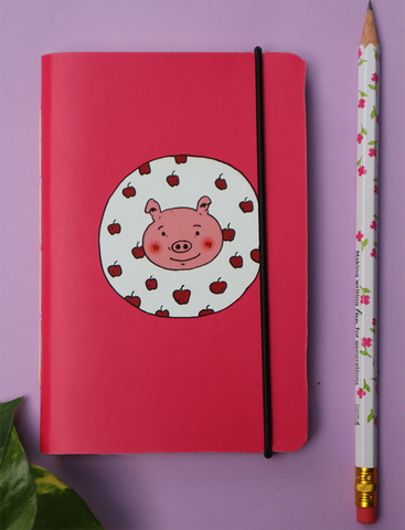 Mini Pocket Book | Apple Piggy - Little Green Trunk