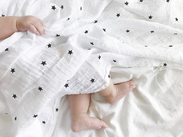 100% Organic Cotton Muslin Swaddle Baby Blanket | 2 Pack