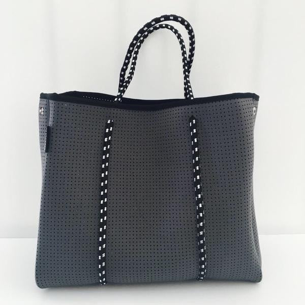 Perforated Neoprene Tote By Prene Bags | Charcoal