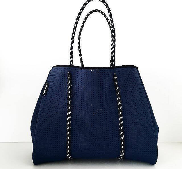 Perforated Neoprene Tote Bag by Prene | Navy Blue