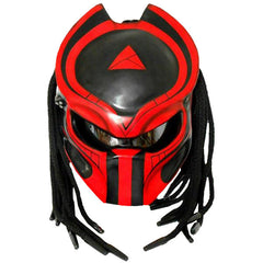 Predator Red Motorcycle Helmet Alien  ATV Custom DOT/ECE Approved - BUY CUSTOM HELMETS