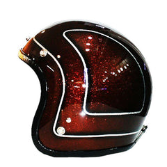 611 Brown Sugar Metal Flake Jet Helmet - BUY CUSTOM HELMETS