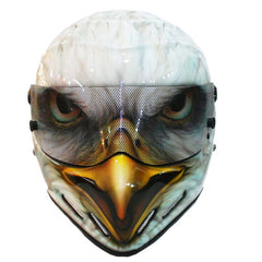 American Eagle FRG Full Face Crash Airbrush Custom Motorcycle Helmet DOT/ECE Approved - BUY CUSTOM HELMETS