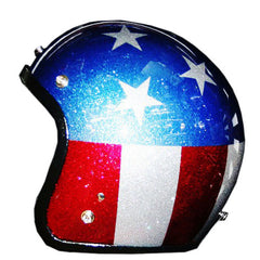 Easy Rider American Tour All Flake Star & Stripes Helmet - BUY CUSTOM HELMETS