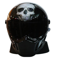 Bandit Skull Full Face Crash Airbrush Motorcycle Helmet DOT/ECE Approved - BUY CUSTOM HELMETS