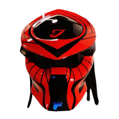 Predator Black And Red Pin Paint Motorcycle Helmet Custom DOT/ECE Approved - BUY CUSTOM HELMETS