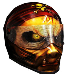 Blind Pirate Full Face Crash Airbrush Custom Motorcycle Helmet DOT/ECE Approved - BUY CUSTOM HELMETS