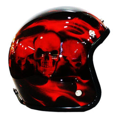 Blood Skulls On Smoke 3-4 Jet Hand Paint Airbrush Helmet - BUY CUSTOM HELMETS