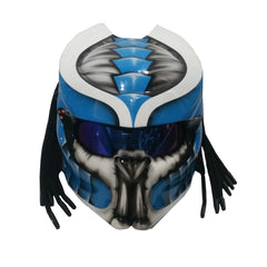 Predator Motorcycle Helmet Blue/White Alien Custom DOT/ECE Approved - BUY CUSTOM HELMETS