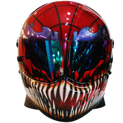 Spiderman Motorcycle Helmet Carnage Cletus Kasady Custom DOT/ECE Approved - BUY CUSTOM HELMETS