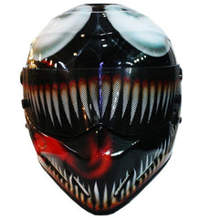 Carnage Venom Motorcycle Helmet Full Face Crash Airbrush Custom DOT/ECE Approved - BUY CUSTOM HELMETS